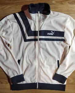 Puma 90's Vintage Womens Tracksuit Top Jacket Creme Gray