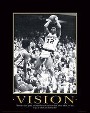 Iowa Hawkeye Basketball Motivational Poster Art Ronnie Lester Carver Arena MVP40