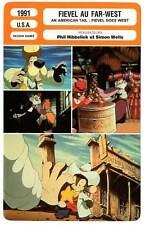 FICHE CINEMA : FIEVEL AU FAR WEST - 1991 An American Tail : Fievel Goes West