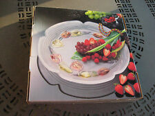"Tulip Festival Water Color Serving Platter (14"")  Frosted No. 1037AZ New In Box"