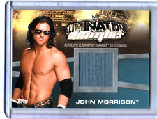 WWE John Morrison Elimination Chamber 2010 Topps Canvas Event Used Ring Mat Card