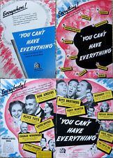 """ALICE FAYE - """"You Can't Have Everything"""" Trade Ad - 1937 -  RITZ BROS."""