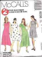8238 McCalls Pattern Misses 2 Hour Pullover Bias A-Line Dress UNCUT SEWING  OOP
