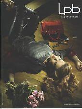 """PUBLICITE ADVERTISING   2011  LES PETITES BOMBES sacs pret à porter """" EMOTIVE"""""""