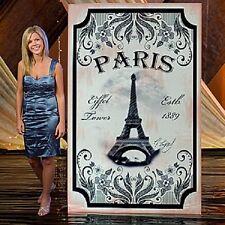 VINTAGE PARIS EIFFEL TOWER STANDEE * Paris theme party decor * photo opp. *