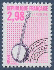 FRANCE 1992 PREOBLITERE N°217** musique instrument, Banjo TTB,  precancelled MNH