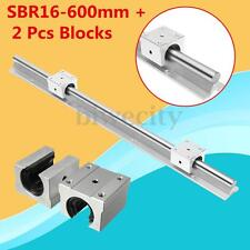SBR16 600mm CNC Router Motion Linear Rail Shaft + 2X SBR16UU Bearing Slide Block