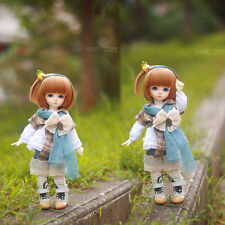 New Lovely Forest Style Grid suit(6pcs)for BJD YOSD 1/6 Size Doll Clothes/Outfit