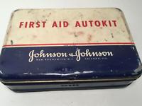 Vintage 1960 Johnson & Johnson First Aid Autokit with Contents
