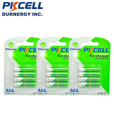 12Pcs AAA Rechargeable Batteries 1.2v NiMH 850mAh Battery For Solar Light PKCELL