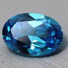 Light Blue 6.78Ct 10x12MM Oval CUT UNHEATED SAPPHIRE AAA+ GEMSTONE