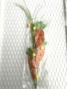 Easter Wreath Pick/Spray Decoration Carrots