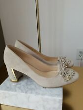 Karl Lagerfeld Grey Suede With Gold Accent Heel Size 6