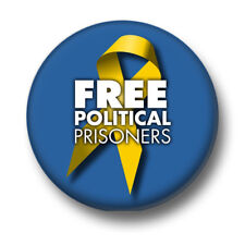 Free Political Prisoners 1 Inch / 25mm Pin Button Badge Justice Freedom Protest
