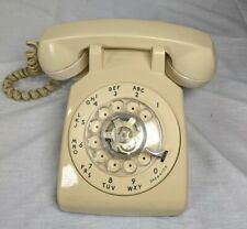 Vintage Rotary Telephone White Beige Bell System Made By Western Electric USA