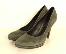 BELMONDO Plateau Pumps Pump High Heels Velourleder Grau Gr. 39 (N68)