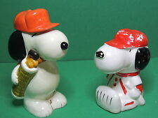Peanuts Snoopy llot of 2 money box Piggy bank coin vintage paper mache figure