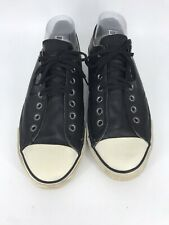 Converse John Varvatos Mens 11 / Womens 13 Black Leather Sneakers Half Lace Up