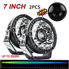 "2PCS 7"" Inch Osram Laser High Output LED Spot Fog Lights Offroad 4X4 ATV Truck"