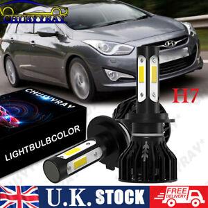 FITS HYUNDAI I40 2011+ 2x H7 Headlight Kit Car LED Bulbs PURE WHITE