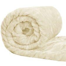 Cream Soft Faux Fur Mink Throw Sofa Bed Blanket - XL (200x240cm)