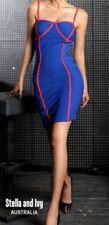Clubwear Cotton Blend Spaghetti Strap Dresses for Women