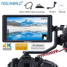 FEELWORLD F5 4K HD DSLR Camera Field Monitor Small Full HD  Peaking Focus Assist