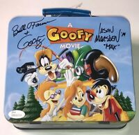 A GOOFY MOVIE Cast X2 BILL FARMER Signed LUNCH BOX Autograph JSA COA WPP