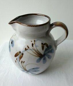 Lovely Vintage Grayshott Studio Pottery Jug With Flower Dandelion ? Design