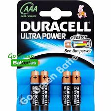 4 x Duracell AAA Ultra Power Alkaline Batteries - LR03, MX2400, MN2400, MICRO