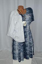 Kleid Sommer Jeans Risse Optik Used Look Exclusiv Classics & More blau Gr. 38