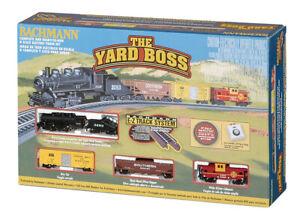 Bachmann N Yard Boss Train Set Usra Mit Santa Fe Dampf 0-6-0 Motor BAC24014