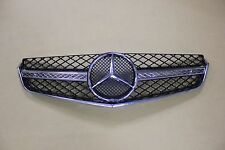 Front Grille E63 AMG Style 10-13 For Mercedes C207 W207 Chrome-Black W/Logo