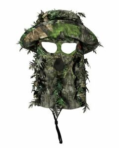 NWTF Mossy Oak Obsession | 3D Leafy Camo Bucket Hat with Face Concealment 58cm 7