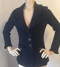 NWT St John Knit jacket size 16 black santana knit fringe