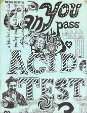Grateful Dead CAN YOU PASS THE ACID TEST Handbill Invitation Bonhams Butterfield