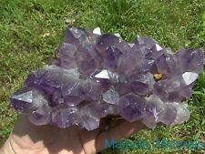 RICH PURPLE COLOR____HUGE CLEAR Amethyst Quartz Crystal Cluster Zambia / Africa