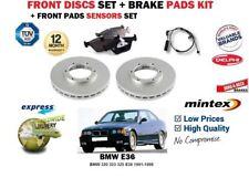 FOR BMW 320 323 325 E36 1991-1998 FRONT BRAKE DISCS SET + DISC PADS + SENSOR KIT