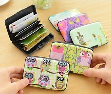 Women Cute Small Waterproof ID Credit Card Wallet Holder Plastic Pocket Case