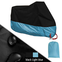 XXXL Black & Blue Motorcycle Scooter Waterproof UV Dust Protector Rain Cover