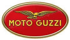 """Moto Guzzi Numériquement Découpe Vinyle Autocollant. 6 """"X 3""""."""