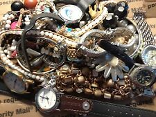 vintage/now junk unsorted jewelry lot lbs wear,repair  costume jewelry lot b