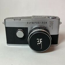 [As Is,For parts] Olympus Pen F 35mm 1/2 Frame Film Camera, 38mm F/1.8 Lens +Cap