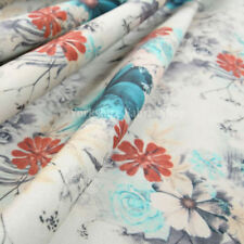 Roll 6 - 10 Metres Floral Curtain Craft Fabrics