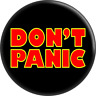 "31150 Don't Panic Hitchhiker's Guide Galaxy Sci Fi Gift 2.25"" Fridge Magnet Cool"
