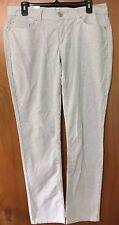 Levis Womens Skinny Pants Striped Off White Blue Sz 30x30 New