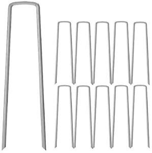 50 Pack 12-Inch Landscape staples Garden Grass Stakes Pins Pegs for Weed Fabric