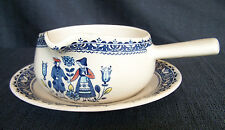 Johnson Bros. Old Granite Hearts&Flowers Gravy Boat/Unattached Under Plate