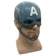 Captain America Mask Realistic Superhero Halloween Mask DC Movie Latex Mask Cosp