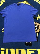 Hugo Boss Blue Men's V-neck T-shirt  Large Slim Fit